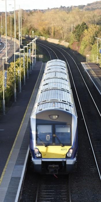 Belfast Transport - Train at Station