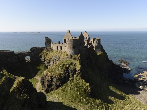 Dunluce Castle from above